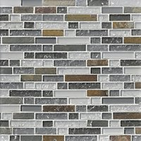 Vail Shimmer Stria with Glass Stone Mosaic Tile - 12 x 12 in