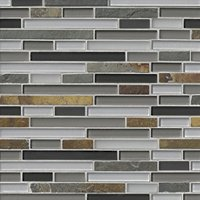 Vail Stria with Glass Mosaic Tile - 12 x 12 in