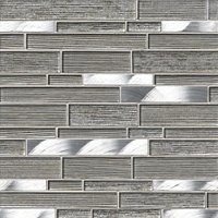 Sherborne Shimmer Athens Glass and Metal Mosaic Wall Tile