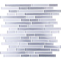 Akoya Pearl Stria Glass Mosaic Wall Tile