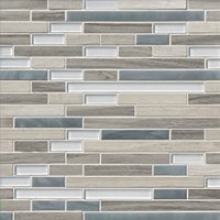 Boardwalk Ash Stria Stone Mosaic Wall Tile