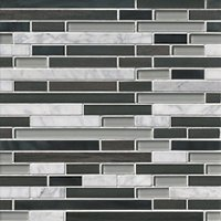 Boardwalk Charcoal Stria Stone Mosaic Wall Tile