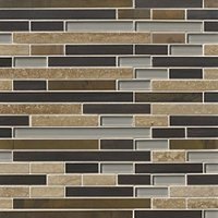 Boardwalk Mahogany Stria Stone Mosaic Wall Tile