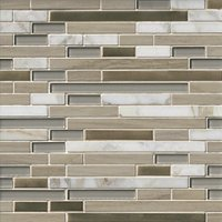 Boardwalk Sand Stria Stone Mosaic Wall Tile
