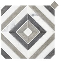 Montauk Dark Grey Stone Mosaic Wall and Floor Tile - 13 x 13 in