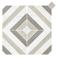 Montauk Light Grey Stone Mosaic Wall and Floor Tile - 13 x 13 in
