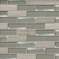 Glass Beach Reflection with Legno Mosaic Wall Tile