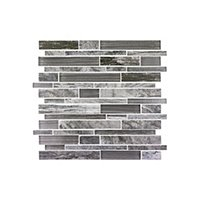 Dockside Gale Stria Porcelain and Glass Wall Tile