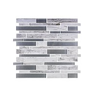 Dockside Rollers Stria Porcelain and Glass Wall Tile