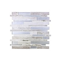 Dockside Whitecap Stria Porcelain and Glass Wall Tile