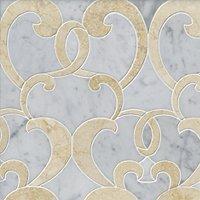 Monroe Marfil Marble Mosaic Wall and Floor Tile
