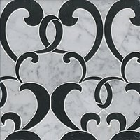 Monroe Marquina Marble Mosaic Wall and Floor Tile