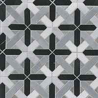Gable w/ Marquina Marble Mosaic Wall and Floor Tile