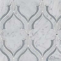 Fontaine Grey Marble Mosaic Wall and Floor Tile