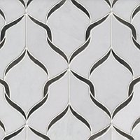 Lucille w/ Vintage Patina Stone Mosaic Floor and Wall Tile