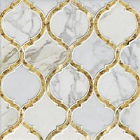 Camilla w/ Gold Antique Mirror Mosaic Wall Tile