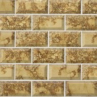 Gold Antique Mirror Bevel Amalfi Glass Mosaic Wall and Floor Tile