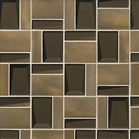 Shipley Antique Bronze Metal and Glass Mosaic Wall and Floor Tile