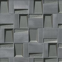 Shipley Stainless Metal and Glass Mosaic Wall and Floor Tile