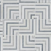 Victoria Grey Meander Marble Mosaic Wall and Floor Tile