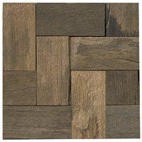 Reclaimed Wood Geometric Mosaic Wall Tile