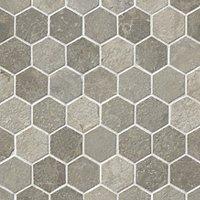 Bandung Gris Acid Hex Marble Floor Tile - 2 in