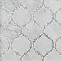 Camilla w/ Mirror Glass and Stone Wall Tile