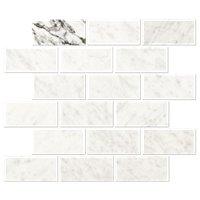 Italian Bianco Carrara Honed Marble Amalfi Mosaic Tile