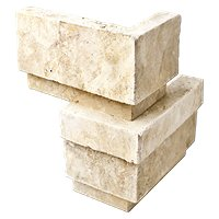 Torreon Stone Smooth Travertine Architectural Out Corner