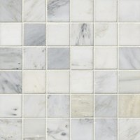 Hampton Carrara Polished Marble Mosaic Tile