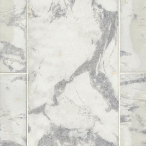 Africa Tempesta Polished Marble Floor Tile - 12 x 24 in