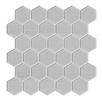 Silver Mist Honed Hex Limestone Wall Tile - 2 in