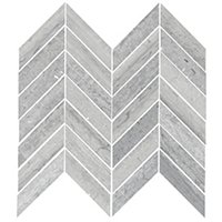 Silver Mist Honed Chevron Limestone Wall Tile