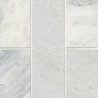 Hampton Carrara Antique Brushed Marble Wall and Floor Tile - 4 x 12 in