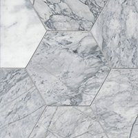 Ashford Carrara Pol Hex Marble Wall and Floor Tile - 12 in