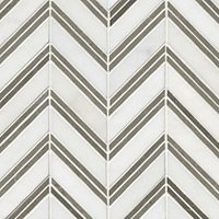 Double Chevron with Cinderella Grey Marble Wall Tile