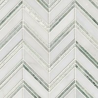 Double Chevron with Biltmore Marble Wall Tile