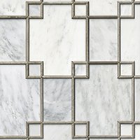 Hampton Carrara Geo Mosaic with Legno Marble Wall Tile
