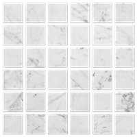 Firenze Carrara Polished Mosaic Wall Tile 2 x 2 in