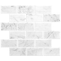 Firenze Carrara Honed Marble Amalfi Mosaic Tile