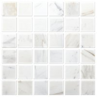 Firenze Calacatta Honed Marble Mosaic Tile 2 in