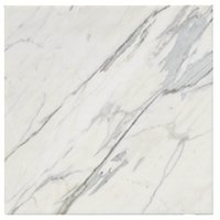 Firenze Calacatta Polished Marble Floor Tile 18 x 18 in