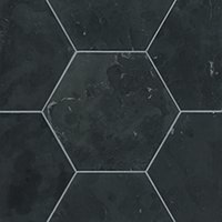 Noir Hon Hex Travertine Wall and Floor Tile - 12 in