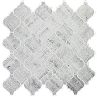 Silver Mist Honed Arabesque Limestone Mosaic Wall and Floor Tile