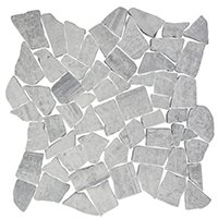 Silver Mist Honed Cobble Limestone Mosaic Floor Tile