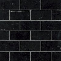 Black Marquina Polished Marble Amalfi Mosaic Wall and Floor Tile