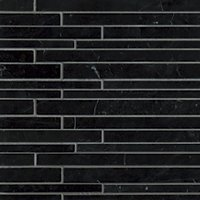 Black Marquina Polished Marble Corinth Mosaic Wall Tile