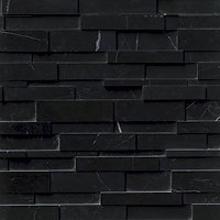 Black Marquina Polished Marble Architectural Wall Tile - 22 x 6 in