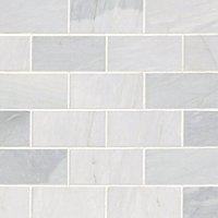 Victoria Grey Light Polished Amalfi Marble Wall and Floor Tile