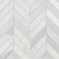 Victoria Grey Light Polished Chevron Marble Wall and Floor Tile